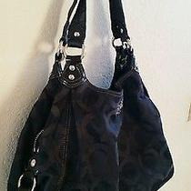 Coach Madison Maggie Hobo Shoulder Bag Black Photo