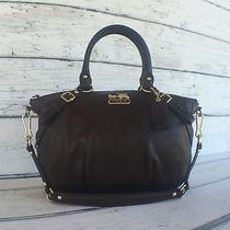 Coach Madison Mahogany Brown Leather Sophia Satchel Shoulder Handbag Purse15960 Photo