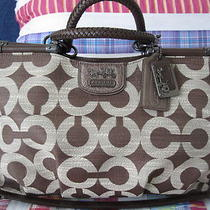 Coach Madison Op Art Caroline in Brown 18935 - Nwt Photo