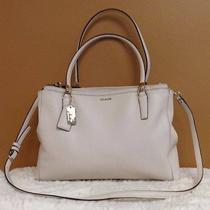 Coach Madison Saffiano Leather Christie Shoulder Bag Tote F29422 Euc Photo