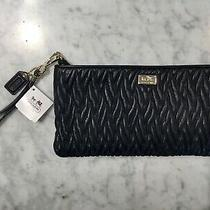 Coach Madison Twist Clutch/wristlet Black Nwt Photo