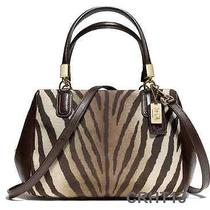 Coach Madison Zebra Mini Satchel Bag 50507 Photo