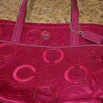 Coach Magneta/raspberry With Sequins Bag  Photo