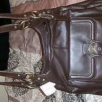 Coach Mahogany Brown Cambell Leather Hobo Designer  Photo