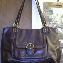 Coach Mahogany Brown Leather Campbell Belle Carryall Tote 24961 Photo