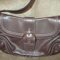 Coach Mahogany Brown Leather Soho Buckle Hobo Duffle Purse Bag Photo