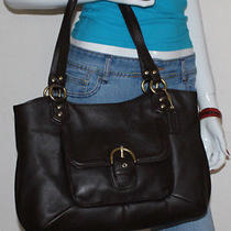 Coach Mahogany Campbell Leather Belle Carryall Bag Purse Photo