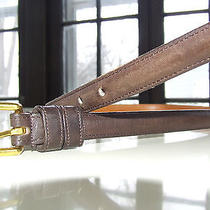 Coach Mahogany Leather Belt - Sz 30  Photo