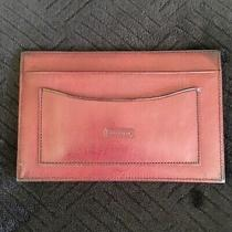Coach Mahogany Leather Slim Card Case and Note Pad Rare Vintage Unisex Business Photo