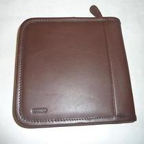 Coach Mahogany Zip-Around Dvd Case New Photo