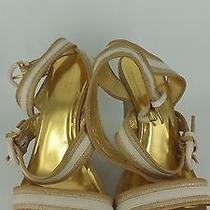 Coach Maralee Wedge Platforms Ankle Strap Shoes Sandals Size 9b Photo