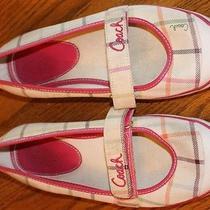 Coach Margot Tattersall Plaid Mary Jane Flats Us Shoe Size Womens 7 (B) Photo
