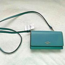 Coach Marine Boxed Phone Crossbody Clutch Wallet Leather 65558b Brand New Nwt Photo