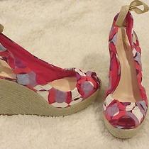 Coach Maritza Platform Wedges Slingback Sandals -Size 9 B-Msrp 168.00 Excellent Photo