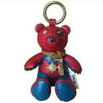 Coach Marvel Bear Carol Danvers 4 Inch Leather Teddy Limited Edition Retail 149 Photo