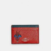 Coach Marvel Card Case With Spider-Man Miami Red New Photo