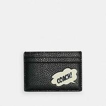 Coach Marvel Comics Card Case With Coach Word Bubble New Black Photo