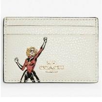 Coach Marvel Flat Card Case With Carol Danvers Chalk Multi 3605 New Photo