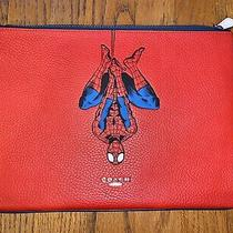 Coach Marvel Spider-Man Pouch Bag Ipad Chrome Book Holder Clutch Nwt Limited Ed. Photo