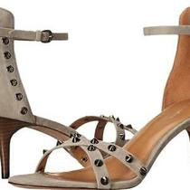 Coach May Lux Suede Studded Sandals in Fog - Size 6.5 Photo