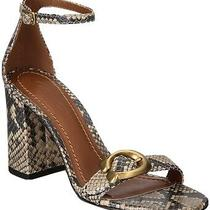 Coach Maya Block Heels Size 10 Snake-Print Leather Photo