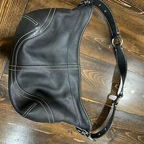 Coach Medium Black Leather Handbag Purse Photo