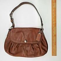Coach Medium Brown Leather Soho Flap Bag Purse F13729 Euc Photo