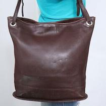 Coach Medium Brown Made in Usa Leather Shoulder Hobo Tote Satchel Purse Bag Photo