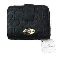 Coach Medium Corner Zip Wallet Crossgrain Leather Im/midnight Blue F11484  Photo