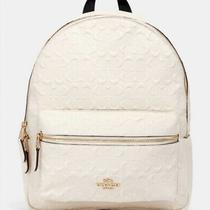 Coach Medium Ivory Backpack Style Bag Photo
