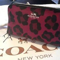Coach--Medium Ocelot Cosmetic Case Cranberry/pink Nwtfree Ship Photo
