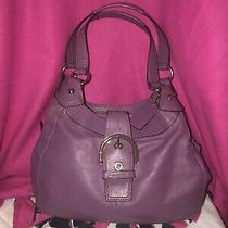 Coach Medium Purple Leather Soho Lynn Hobo Purse Bag Photo