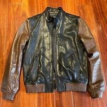 Coach Men Bomber Leather Jacket  Size Xs 100% Authentic Photo