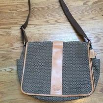 Coach Men Brown  Diaper /messenger Bag  Leather and Canvas Photo