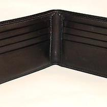 Coach Men Leather Double Billfold Soft Leather Photo