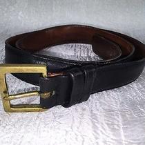Coach  Men's Belt Sz 38 Black Glovetanned Cowhide Leather Solid Brass Buckle Usa Photo