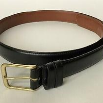 Coach Men's Black Burnished Cowhide Leather Belt Brass Buckle 34 Usa 5800 Photo