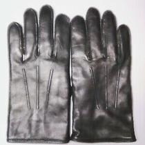 Coach Men's Black Leather - Cashmere Lined Gloves Size Medium Nwot Free Shipping Photo