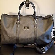 Coach Men's Boston Travel Bag With Original Receipt Black Lockable Photo