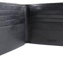 Coach Men's Double Billfold Sport Calf Leather Wallet Black F75084  Photo