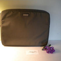 Coach Men's Laptop Sleeve Trans Nylon Olive Green Nwt on Sale Photo