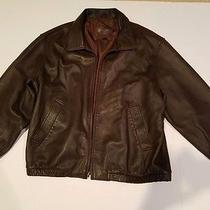 Coach Men's Leather Bomber Jacket 100% Authentic Photo