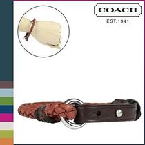 Coach Men's Leather Bracelet Brown Style F62709 New Nwt Photo