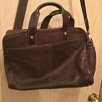 Coach Men's Leather Commuter Briefcase Laptop Bag Brown Photo