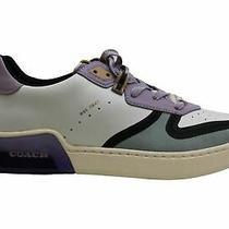 Coach Men's Shoes Citysole Sue Court Low Top Lace Up White/soft Lilac Size 9.5 Photo
