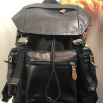 Coach Men's Terrain Trek Perforated Black Nylon/ Leather Backpack F57477 Photo