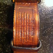 Coach Mens Belt Cowhide Leather Hand Crafted in Italy Solid Brass Hardware Photo