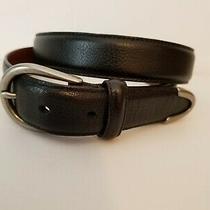 Coach Mens Black Leather Belt Size 38 Unisex Textured Cowhide  Photo