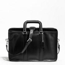 Coach Mens Black Leather Embassy Briefcase Laptop Computer Bag 70374 Nwt - 448 Photo