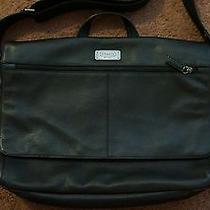 Coach Mens Black Leather Messenger Bag With Gift  Photo